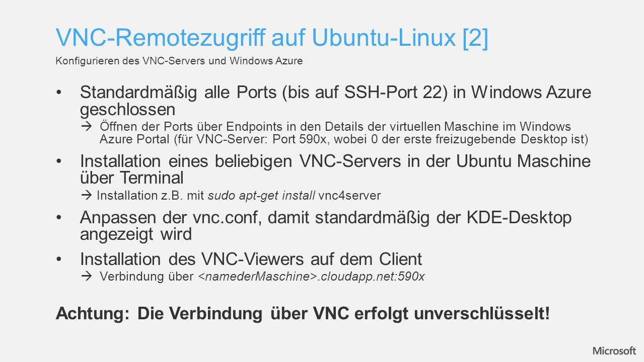 VNC-Remotezugriff auf Ubuntu-Linux [2]